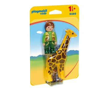 Playmobil Dierenverzorgster met giraf