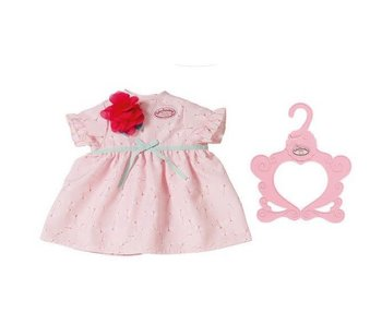 Robe de jour bébé Annabell - avec fleur rouge