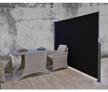 Zijscherm - windscherm 180x300 oprolbaar donker grijs