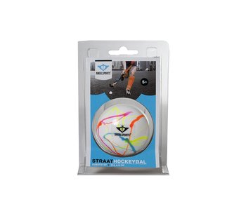 Angelsports Hockey bal wit/ vlammend multicolor