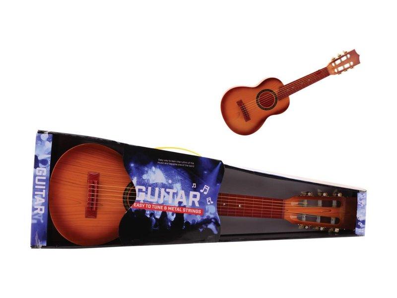 guitare 65 cm avec 6 cordes en métal