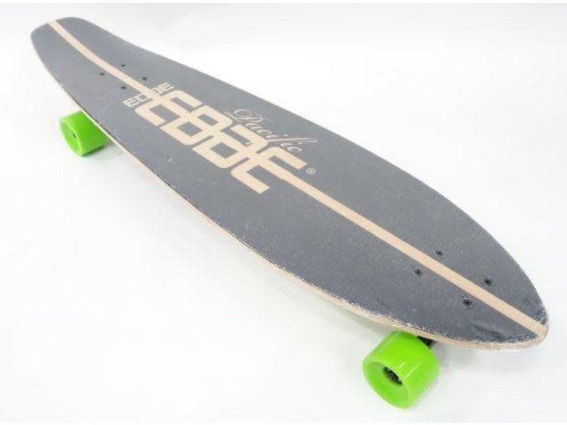 Long Board  - skateboard zwart/groen