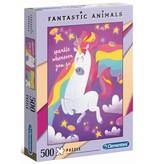 Puzzel 500 stukjes fantastic unicorn