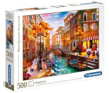 Puzzel 500 stukjes HQC sunset over Venice