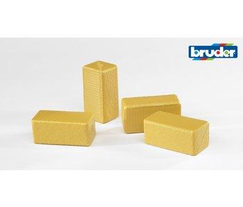 Bruder 2342 hooiblokken - 4 stuks