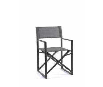 Gescova Tuinstoel Javea folding chair - houtskool/zilvergrijs