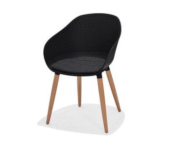 Gescova Kopenhagen chaise - noir/gris foncé