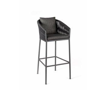 Gescova Chaise de bar gabon - gris anthracite/gris foncé