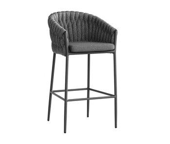 Gescova Chaise de bar Vigo - gris anthracite/gris foncé