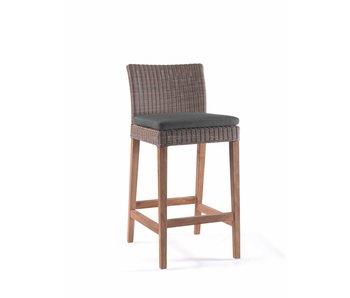 Gescova Chaise de bar Cuba - gris - teck