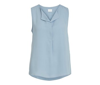 VILA Vilucy S/L top | ashley blue | extra small