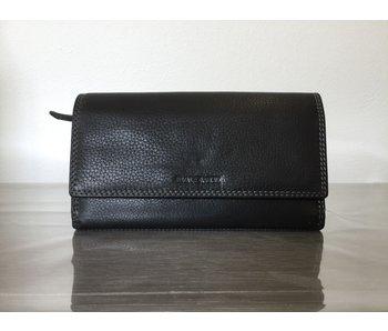 DAKOTA dubbele portemonnee - zwart