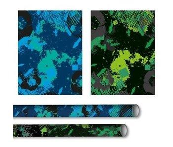 Kado/kaftpapier riff groen  2mx70 cm