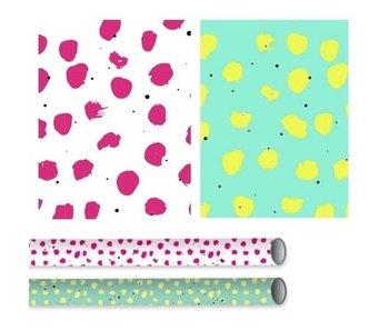 Kado/kaftpapier Breeze rood/wit 2mx70 cm