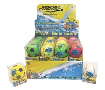 Waverunner Mega Sport Ball 9 cm dans une boîte en PVC, Basketball - 1 pièce