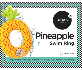 Ananas bouée géant Didak - 180x115 cm