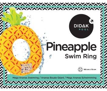 Mega ananas zwemring Didak - 180x115 cm