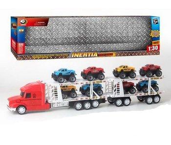 Vrachtwagen+8 wagens