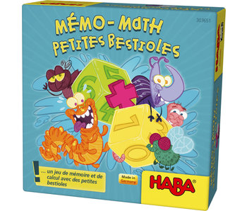 Haba Mémo-math Petites Bestioles | jeu de mémoire FR