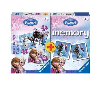 JEU MEMORY + PUZZLE FROZEN
