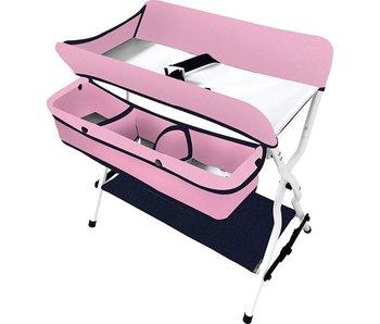 verzorgingstafel blauw/roos