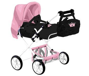 Chariot Combi 2 avec sac couronne bleu/rose