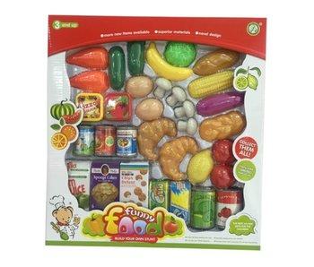 Groenten, fruit, voedingswaren set 33x38cm