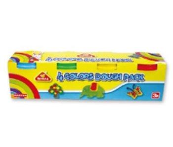 Pepeille 4 kleuren potjes plasticine - 4 pack