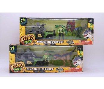 Dinosaurus speelset, 1 wagen, 1 Figuur + Accessoires