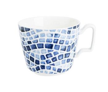 Mozaiek ontbijtas 39cl 10.5x8h cm - blauw
