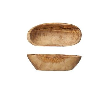 Aperoschaal  12-15 cm  olijfhout