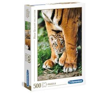 Puzzel HQC Bengaalse tijgerwelp - 500 stukjes