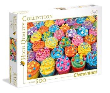 Puzzel HQC Kleurrijke cupcakes - 500 stukjes