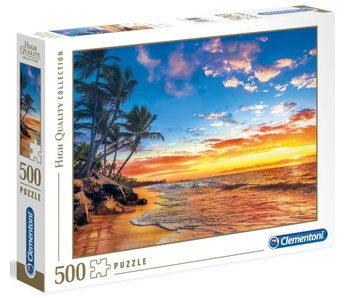 Puzzel HQC Paradijs strand - 500 stukjes