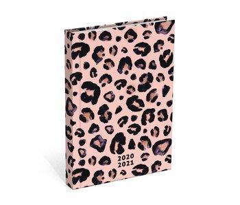 Mixed designs schoolagenda 125x175 pink leopard