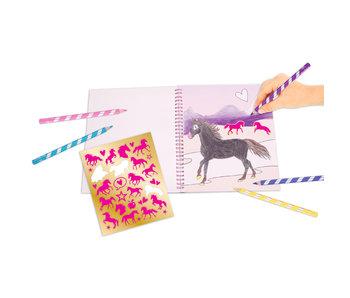 Miss Melody kleurboek met pailletten