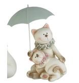 J-Line Chat couple parapluie H21.5cm