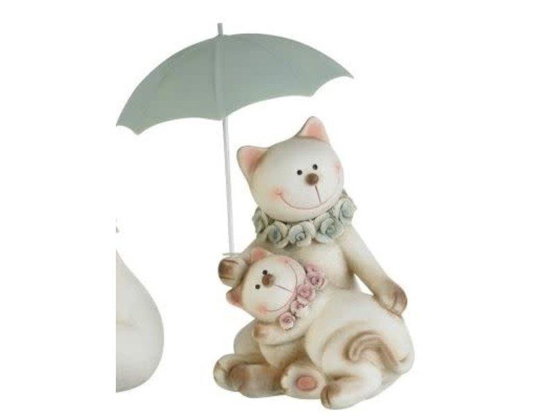 J-Line Kat koppel paraplu H21.5cm