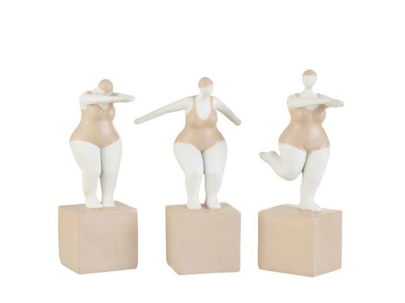 J-Line Femme costume de bain genou soulevé - H23 cm