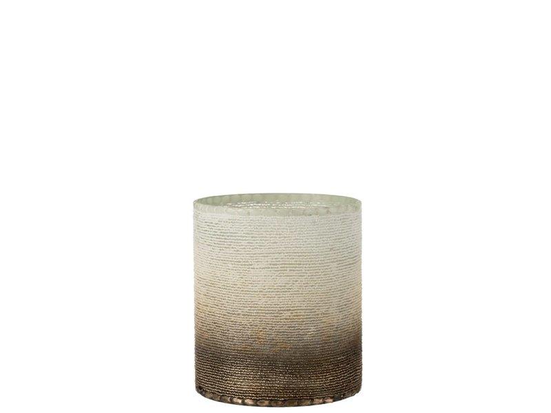 J-Line Photophore Ibiza cylindre 19.5x22.5cm