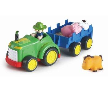 Tracteur + remorque +3 animaux 18m+