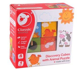 Cube découverte avec puzzle d'animaux