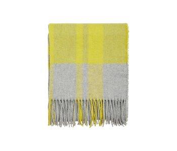 VILA Sjaal Celery wol licht grijs/geel