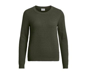 VILA Vichassa knit top - Kaki - XS