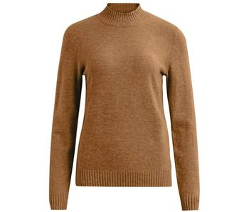VILA Viril turtleneck knit top tortoise shell - L