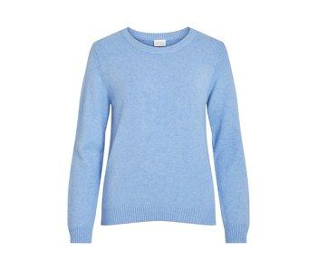 VILA Viril L/S O-neck knit top -Stonewash - S