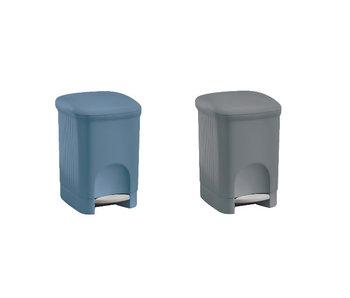 Pedaalemmer badkamer vierkant 5L blauw 18.5x18.50x28