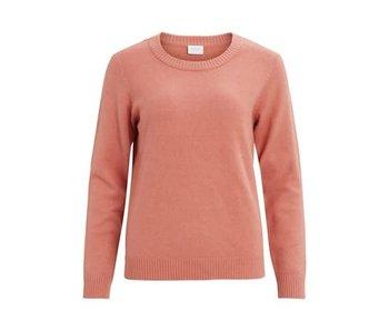 Viril o-neck L/S knit top FAV desert sand - S
