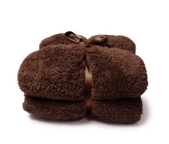 Teddy plaid 150x200 Bison brown