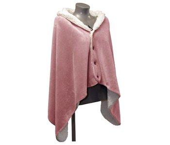 Omslagplaid Coby 75x150 cm - oud roze